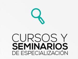 CURSOS Y SEMINARIOS DE ESPECIALIZACIÓN